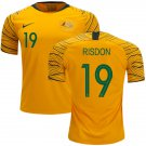 Josh Risdon  #19 Australia National Team #AsianCup2019 Home Jersey – Gold/Green
