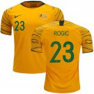 Tom Rogic #23 Australia National Team #AsianCup2019 Home Jersey – Gold/Green