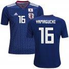 Hotaru Yamaguchi #16 Japan Men Football Soccer Jersey Home Samurai Blue #Asiancup 2019