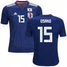 Yuya Osako #15 Japan Men Football Soccer Jersey Home Samurai Blue #Asiancup 2019