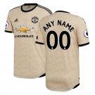 Manchester United 19/20 Away Custom Jersey /Tan