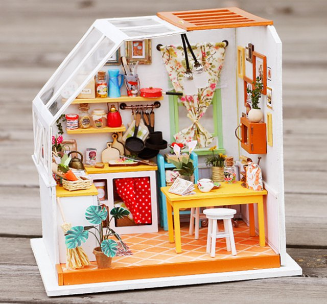 DIY house Jason's Kitchen 3D puzzle educational toys for children and adults