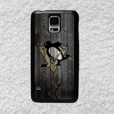 Pittsburgh Penguins Smart Phone Hard Case for Samsung or iPhone - NHL Wood Style Design for Cell