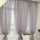 Linen Fabric CURTAINS Drapes 1 Panels Gray Rod Pocket