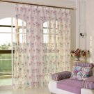 Floral Curtain Window Curtain Net Curtains 1PCS