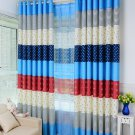 New Arrival Kitchen Curtains Blue Window Curtains For Living Room Floral Panel For Summer
