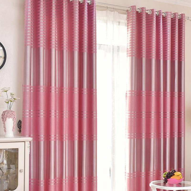 Modern Window Curtain Stripe Printing Curtains for Bedroom Living Room Kids