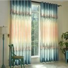 Printed Semi-shade Curtains For Living Room Gradient European Style Floral Window Curtain
