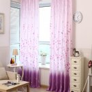 Purple Floral Printed Curtains for Living Room Modern Window Curtains for the Bedroom Kids Curtains