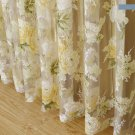 Floral Window Tulle Curtains for Living Room Bedroom Sheer Curtains for Kitchen