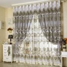 European style Sheers Window Curtain Luxury Embroidery Voile Curtains