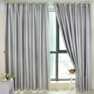 100*200cm Thermal Curtains Blackout Curtain Shower Curtains Hook  Silver