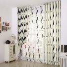 Modern stripe design cotton curtains blackout curtain drape white window curtain panel