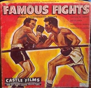 CASTLE FILMS FAMOUS FIGHTS 3015 8mm projection film Lightweight Boxing Bouts
