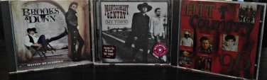 Mix Country:Montgomery Gentry, Brooks & Dunn, Hit country '96, 3 CD's