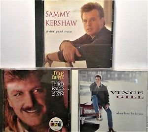 Mix Country: Sammy Kershaw, Joe Diffie, Vince Gill, 3 CD's