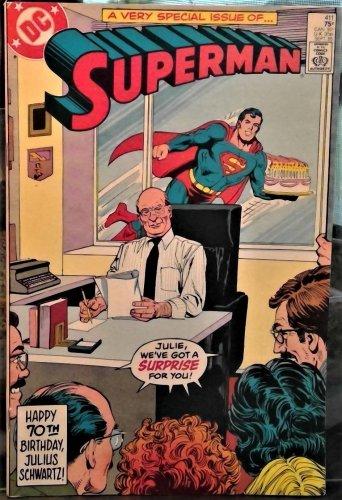 DC Superman #411 Comic 1985 70th BD Julius Schwartz