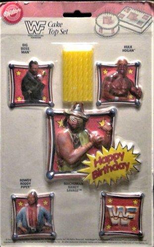 Vintage Wilton WWF Cake Top Set - Hulk, Machoman, Piper, Boss Man 1992