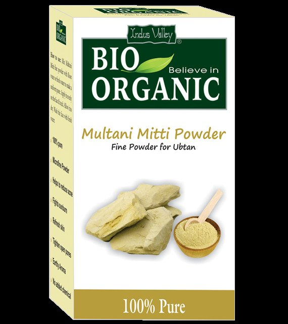 Bio Organic Multani Mitti Powder (Fuller�s Earth) By Indus Valley  Face Pack