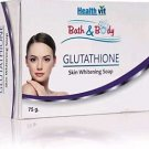 Healthvit Bath & Body Glutathione Skin Whitening Soap 75g (Pack of 2) Free Ship