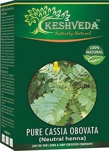 100 % NATURAL -PURE CASSIA OBOVATA 100 GM (Netural Heena) By Keshveda FREE SHIP