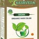 BROWN HAIR COLOR  POWDER-NO CHEMICAL PURE HERBAL BY KESHVEDA FREE SHIP