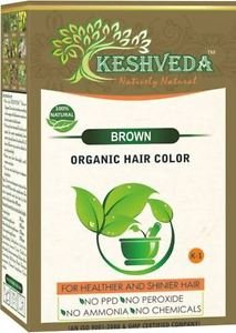 BROWN HAIR COLOR  POWDER-NO CHEMICAL PURE HERBAL BY KESHVEDA FREE SHIP