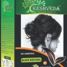 BLACK NATURAL HAIR COLOR 120 GM BY KESHVEDA NO AMONIA PURE HERBAL FREE SHIP