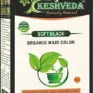 SOFT BLACK HAIR COLOR POWDER-NO CHEMICAL PURE HERBAL BY KESHVEDA FREE SHIP