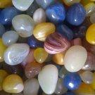 Pebbles Glossy Home Decorative Vase Fillers Stone , 1 KG-Color: Multicolored