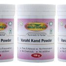 Naturmed's Varahikand/Yam Powder 100 Grams Jar Pack of 3 (100 Grams x 3 jars)