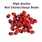 Laal Chirmi Red Gunja Seeds for Lakshmi Upasna Sadhna Gurivinta Seeds 51 Pieces
