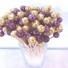 Graduation Party Gold Purple Pearl Beads Toothpicks Wedding Dinner Cocktail Pick