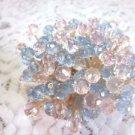 35 Crystal Light Pink Blue Toothpicks Wedding Gender Reveal Baby Shower Picks