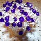 35 Royal Blue Crystal Toothpicks Wedding Boy Shower Dinner Party Skewers Picks