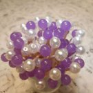 Gemstone Lavender Christmas Bead Toothpick Wedding Party Picks Purple Halloween