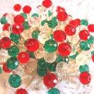 Crystal Red Green Toothpicks Italian Dinner Party Picks Wedding Food Christmas