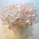 35 Pink Crystal Toothpicks Wedding Baby Girl Shower Picks Quinceañera Birthday