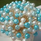 Blue Aqua Turquoise Christmas Bead Toothpick Wedding Party Picks Food Appetizer