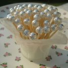 Silver Beads Toothpicks Wedding Anniversary Shower Party Picks Graduation