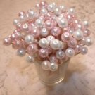 Pretty Pearl Wedding Toothpicks Pink Baby Girl Shower Party Picks Valentines Day