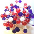 Red White Blue Patriotic Crystal Toothpicks Party Picks Cocktail July 4 Picni