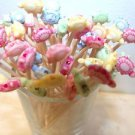 Turtle Toothpicks Animal Kid Party Food Appetizer Picks Cupcakes Pink Green Blue