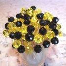 Crystal Black Yellow Preakness Graduation Wedding Toothpicks Party Food Picks