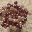 Plum White Purple Pearl Bead Easter Toothpicks Wedding Dinner Party Picks