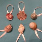 6 Seashell Ornaments Shells Beach Tree Christmas Spiral Conch Cone Snail Lot
