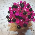 35 Crystal Hot Pink Black Toothpicks Wedding Bachelorette Party Picks Cocktail