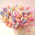 Snails Toothpicks Animal Kids Party Food Appetizer Picks Cupcakes Pink Red
