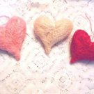 Red Pink Ivory Valentines Day Hearts Ornaments Crafts Wedding Shabby Chic Sisal
