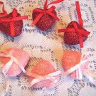 MINI Red Pink Valentines Day Hearts Ornaments Craft Wedding Shabby Chic Glitter